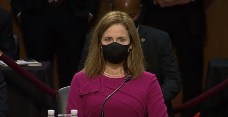 """Amy Coney Barrett Says Courts """"Should Not Try"""" to Make Policy Decisions in Opening Statement"""