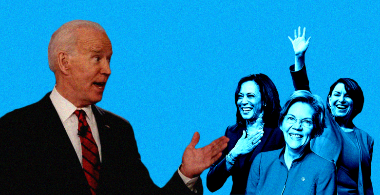 Joe Biden Vows to Pick a Woman To Be His Running Mate