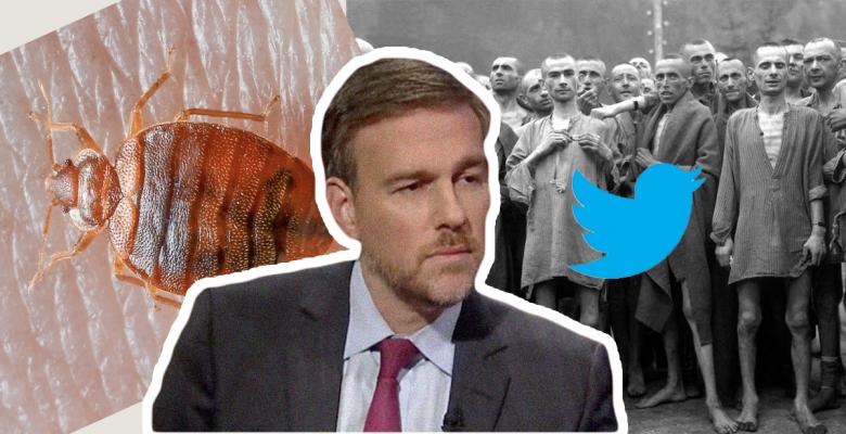 Brett Stephens Bed Bug Holocaust Twitter