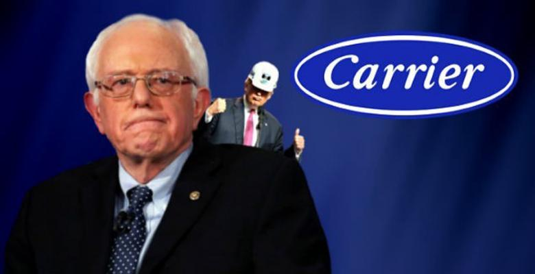 "Laid-Off Carrier Workers: ""I Wish I Voted For Sanders"""