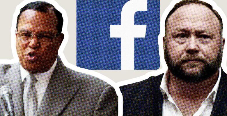 Facebook Bans 'Dangerous' Voices Like Alex Jones, Louis Farrakhan, Far-Right Figures