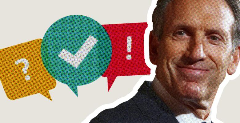 Howard Schultz's Own Polling Shows He Would Help Re-Elect Trump