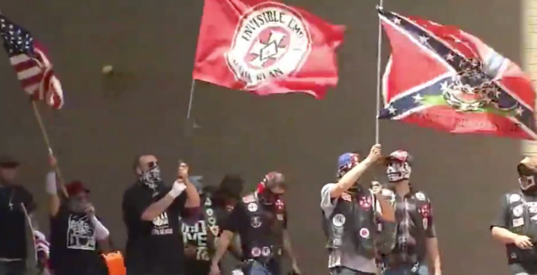 Ohio KKK Rally Draws Just 9 Members While Counter-Protest Draws 600
