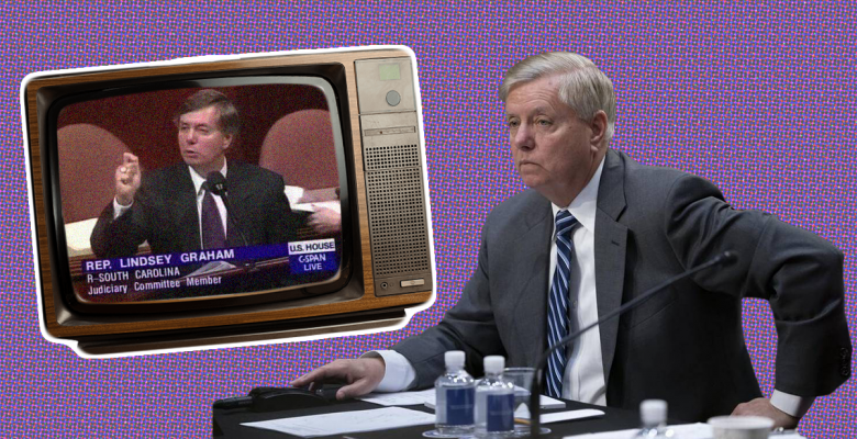Democrats Use Video of Lindsey Graham's Clinton Impeachment Remarks at Trump's Trial