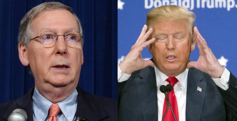 Trump Childishly Slams McConnell On Twitter