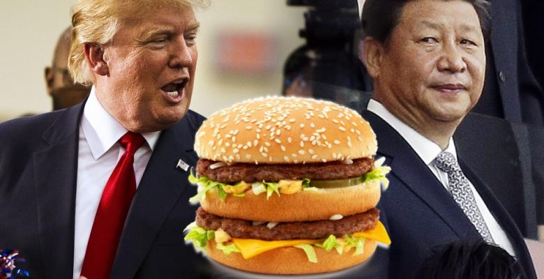 Trump Eats A Hamburger, Japan Goes Crazy
