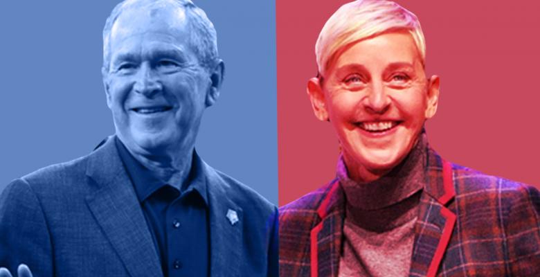 Ellen and Bush