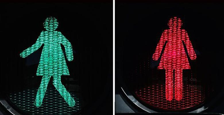 "Melbourne Tries Female Crosswalks To ""Reduce Bias"""