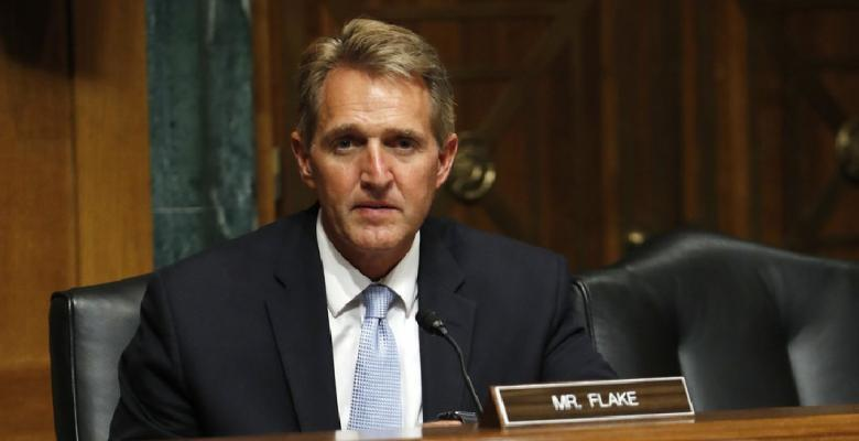 Jeff Flake Isn't A Hero, He's Playing It Safe