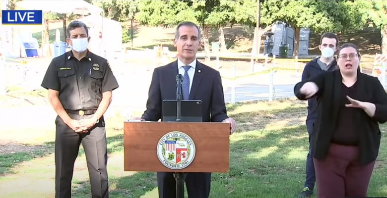 Los Angeles Mayor Threatens to Shut Off Utilities at Homes Hosting Big Parties