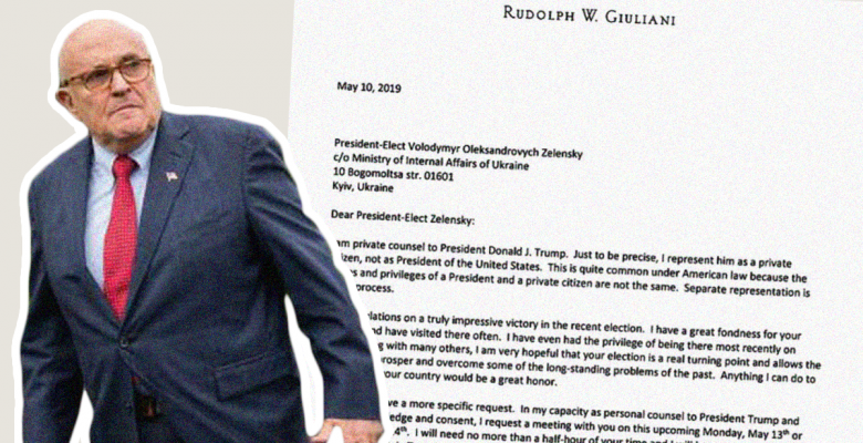 House Releases New Rudy Giuliani Letter That Blows Up Trump's Impeachment Defense
