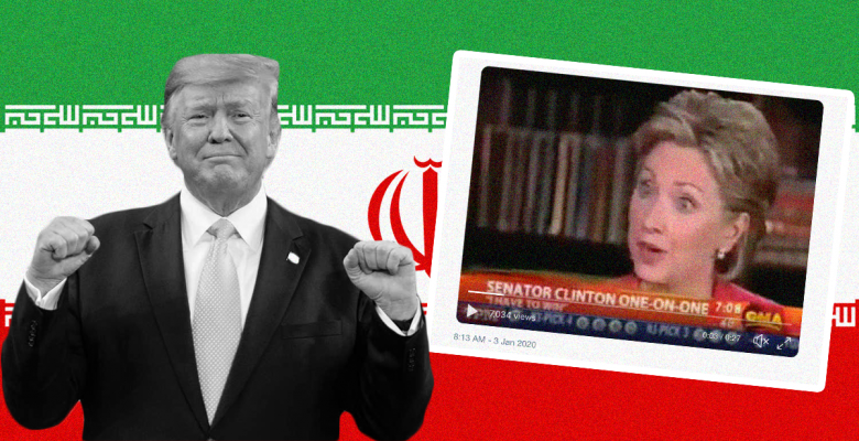 Misleading Clinton Clip Circulates Drawing False Equivalence With Trump on Iran