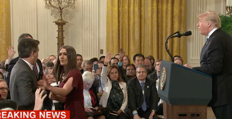 Sarah Sanders Uses Doctored Video to Justify Banning CNN's Jim Acosta