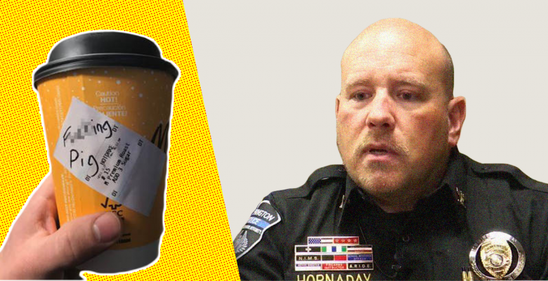 """Kansas Cop Resigns After Admitting He Faked """"F*cking Pig"""" Slur on McDonald's Coffee Cup"""