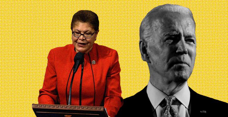 Karen Bass, Chairwoman of the Congressional Black Caucus, Endorses Joe Biden