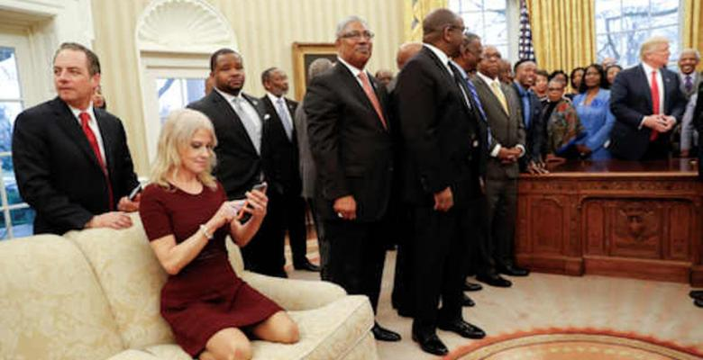 Kellyanne Conway Puts Feet On A Couch, Now It's A News Story