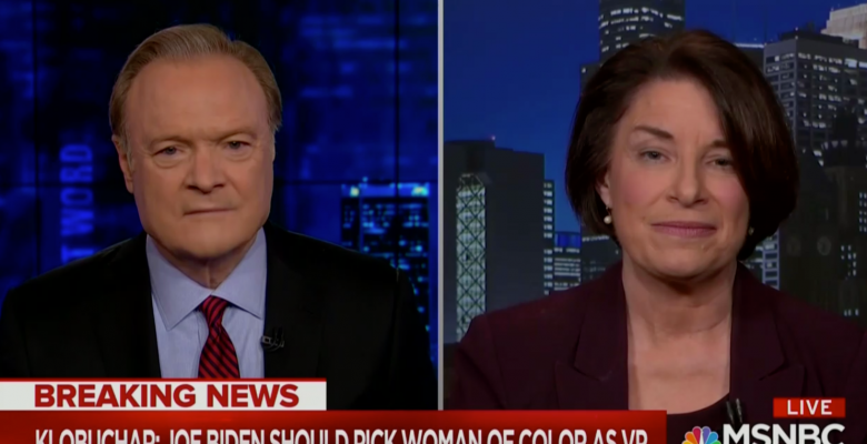 """Amy Klobuchar Withdraws From Biden VP Race, Urges Him to Pick a """"Woman of Color"""""""