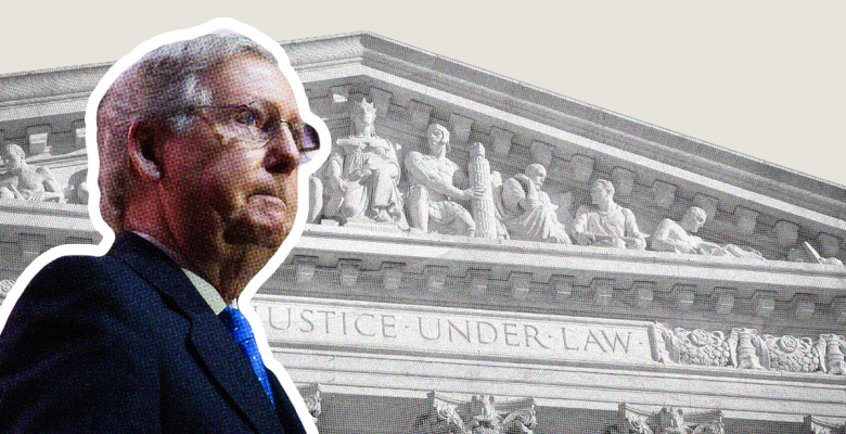 Mitch McConnell Brags That Republicans Would Fill a Supreme Court Vacancy Ahead of Election