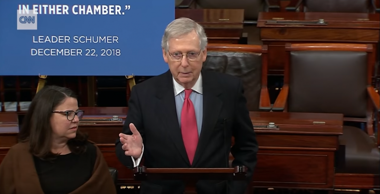 Mitch McConnell Blocks House-Approved Bills That Would Reopen The Government