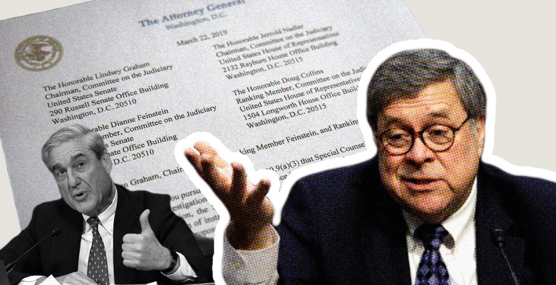 Bill Barr Admits He Overruled Bob Mueller Because He Disagreed With Report's 'Legal Analysis'