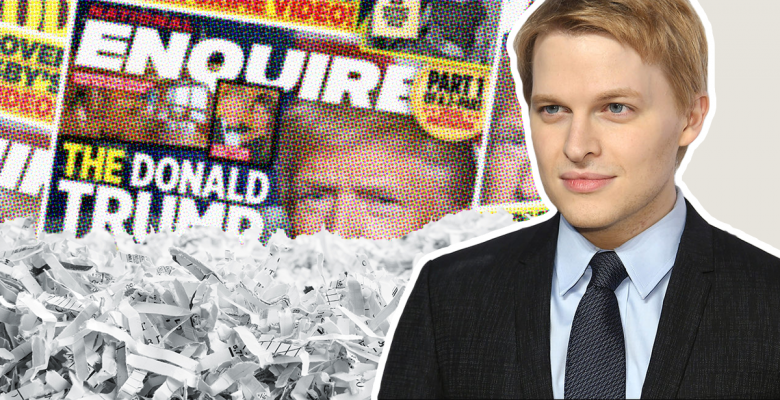 National Enquirer Shredded Files From Secret Trump Safe Prior to 2016 Election: Ronan Farrow