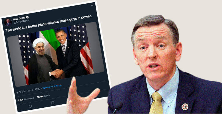 Republican Congressman Shares Fake Photo of Obama Shaking Hands With Iranian President