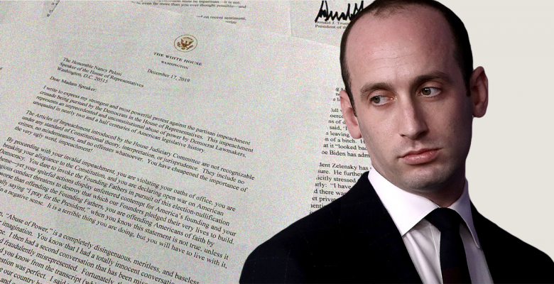 Stephen Miller, Not White House Counsel, Helped Trump Write Letter Blasting Nancy Pelosi