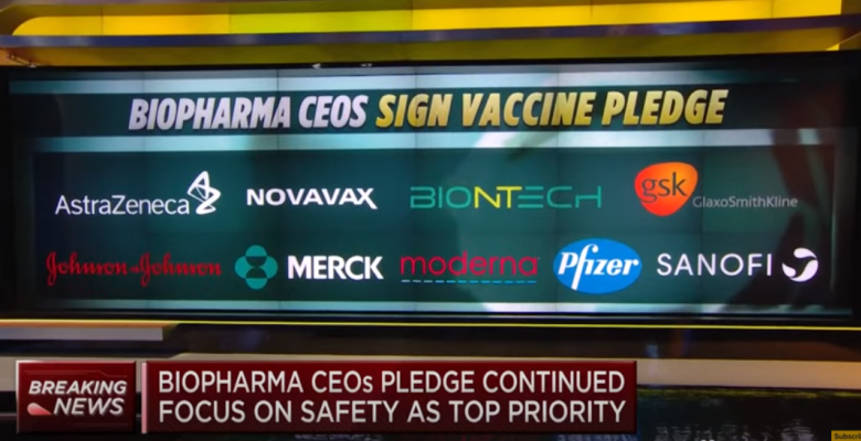 Vaccine Makers Sign Safety Pledge Amid Concerns Over Politicization of the Coronavirus