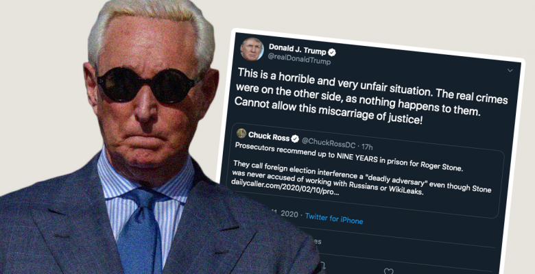 Trump Hints at Pardon After Prosecutors Recommend 7 to 9 Years in Prison for Roger Stone