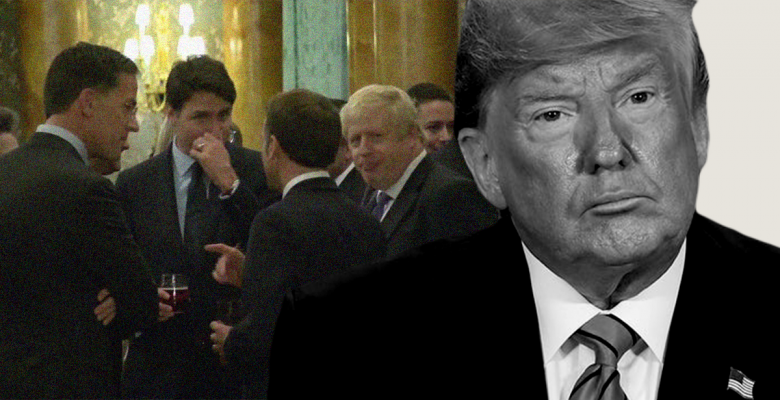 Trump Leaves NATO Summit  Early After Video Shows World Leaders Laughing at Him