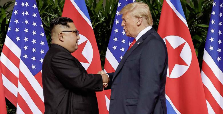 Historic Meeting of U.S. President and North Korean Leader Begins