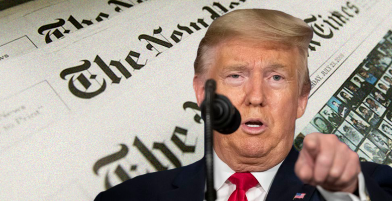 Trump Campaign Sues New York Times for Defamation Over Op-Ed on Russia