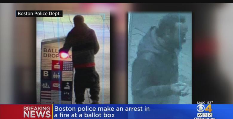 Suspect Arrested In Alleged Arson of Boston Ballot Drop Box