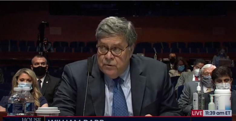 "Bill Barr Attacks Protesters and ""Bogus"" Russia Investigation in First House Judiciary Committee Testimony"
