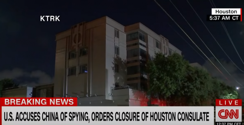 "Chinese Consulate in Houston Burns Files After US Evicts Them in ""Unprecedented Escalation"""