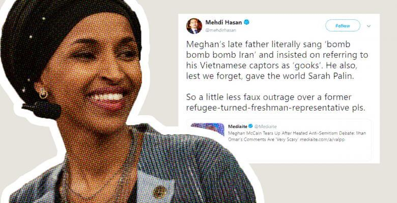Ilhan Omar Retweets Criticism of McCain's Daughter