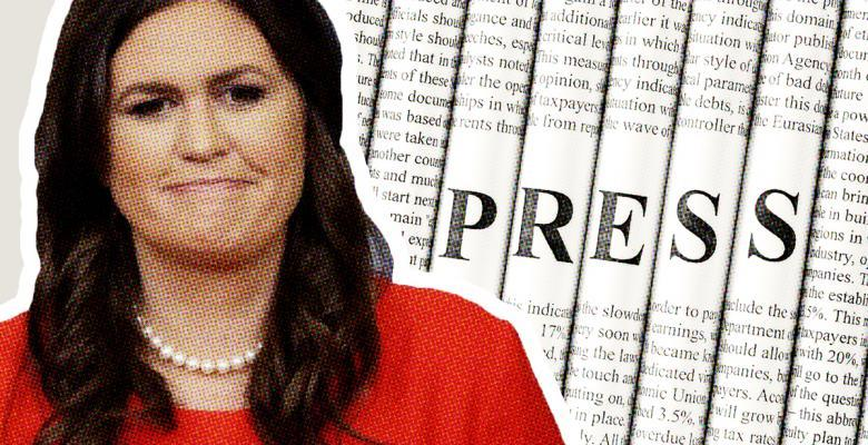 Sarah Sanders 'Mass Purge' of Reporters Imposes Rules Disqualifying 'Almost Entire WH Press Corps'