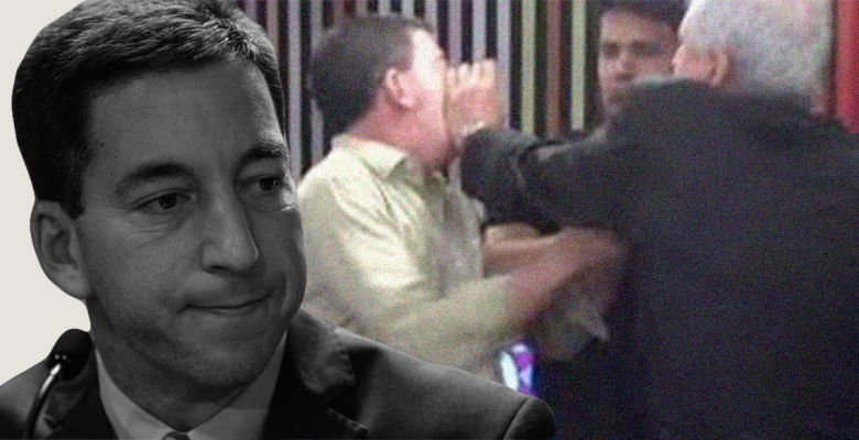 Right-Wing Brazilian Journalist Physically Attacks Reporter Glenn Greenwald During Live Broadcast