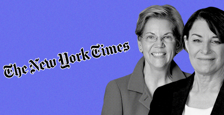 New York Times Editorial Board Endorses Both Elizabeth Warren and Amy Klobuchar