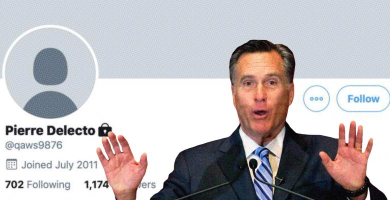 Mitt Romney's Secret Twitter Account Revealed: Meet 'Pierre Delecto'