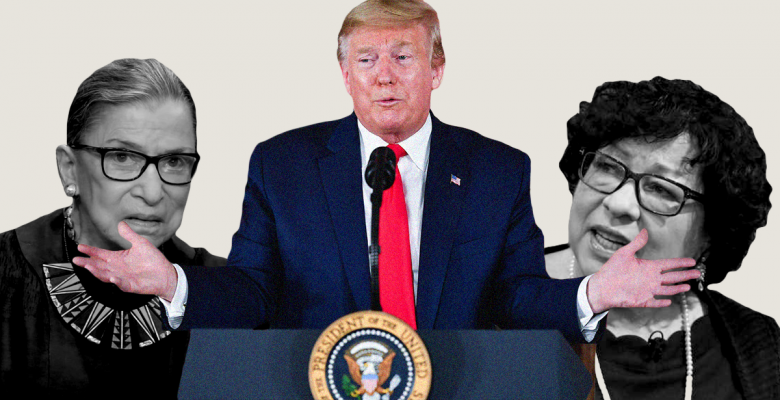 """Trump Demands RBG and Sonia Sotomayor Recuse Themselves From """"Trump Related Matters"""""""