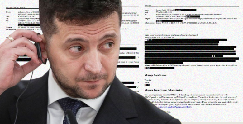 White House Releases Ukraine Military Aid Documents -- That Are Almost Completely Redacted