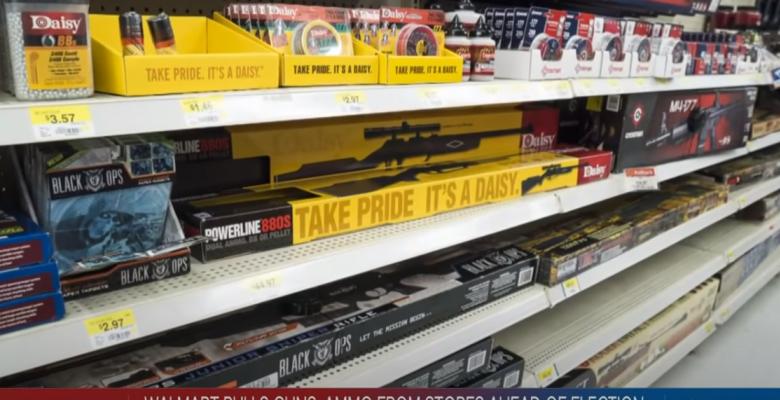 "Walmart Pulls Guns and Ammunition Displays Citing ""Civil Unrest"""