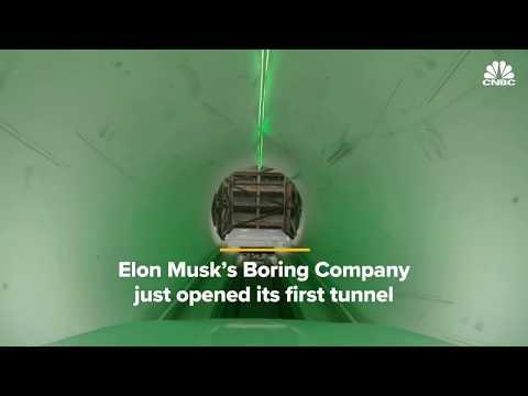 Elon Musk's Boring Company Opened Its First Tunnel — Watch What It's Like To Ride Inside