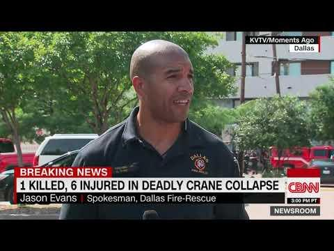 Crane Collapses In Dallas