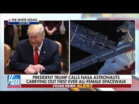 Trump Calls NASA Astronauts During Spacewalk