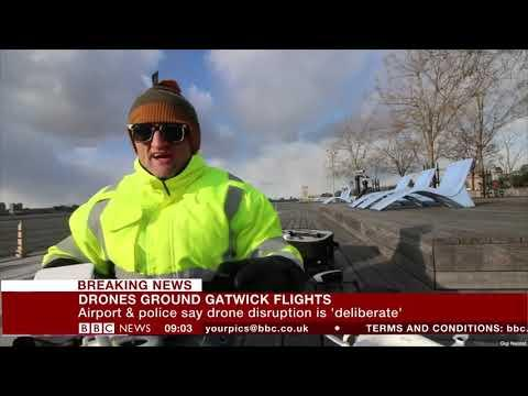 Crazy Drones Flown Over Gatwick Airport