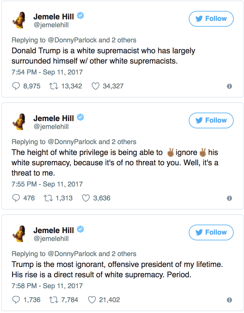 Jamele Hill Racist Tweets