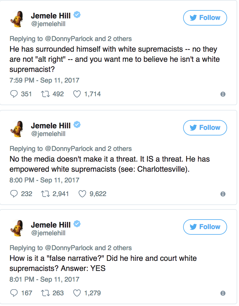 Jemele Hill Racist Tweets