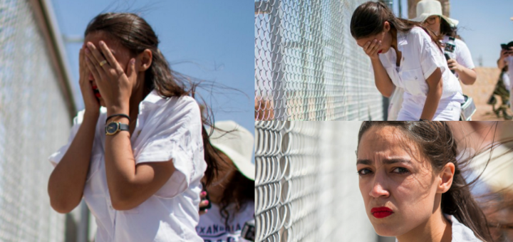 AOC border fence crying